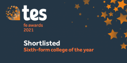 College shortlisted for Tes Awards 2021